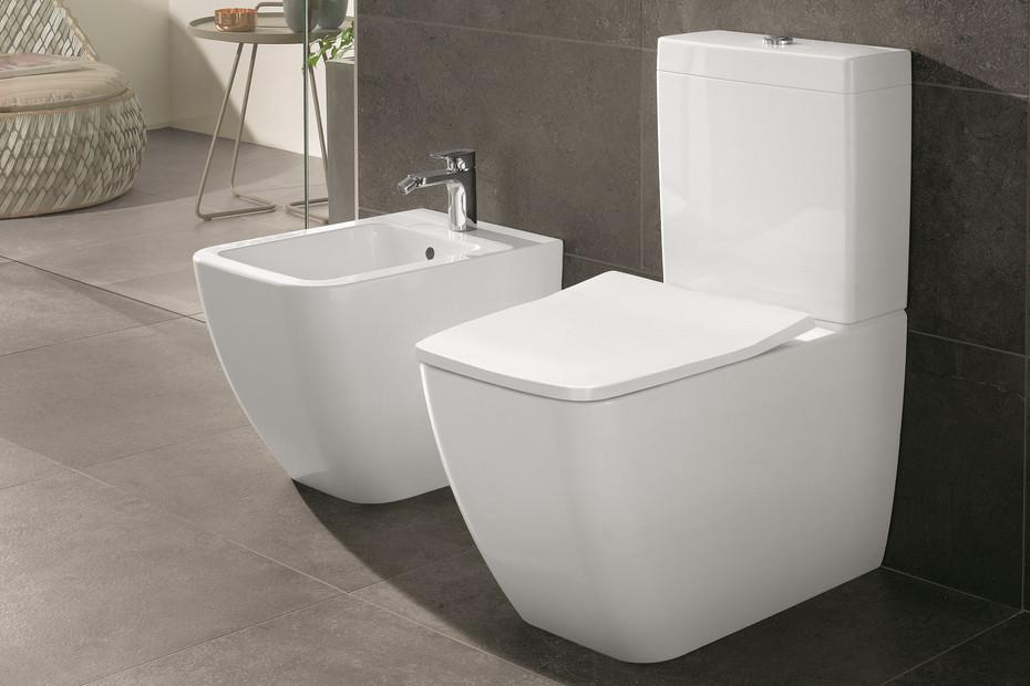 Washdown WC for close-coupled WC-suite rimless Venticello
