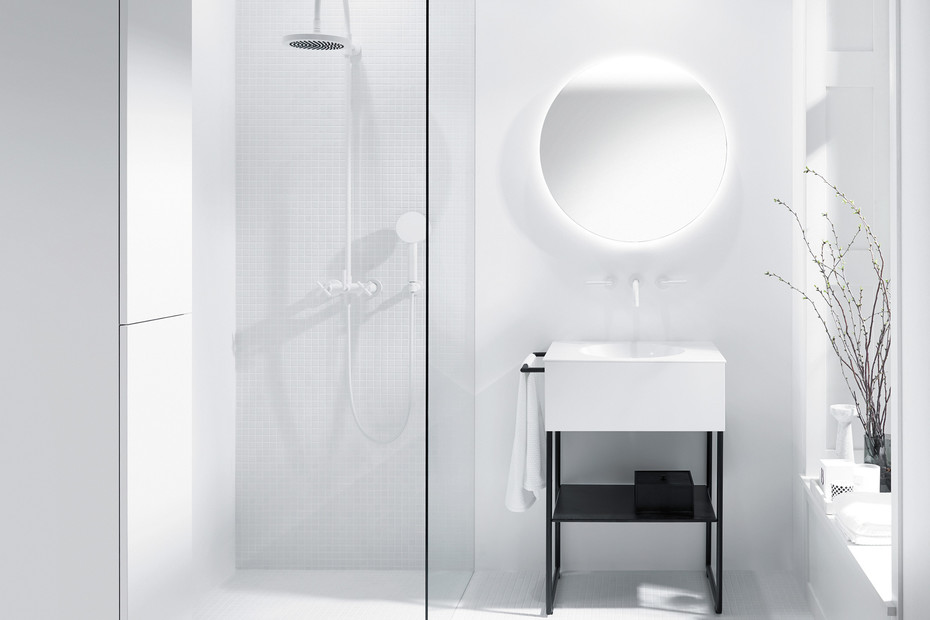 Coco mirror with circulating LED-light and selection:cold/warm white