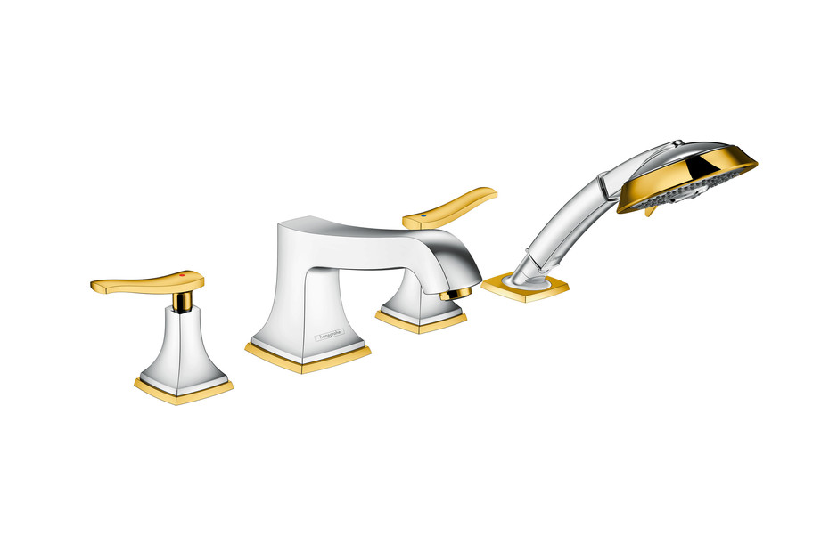 Metropol Classic 4-hole bath mixer lever