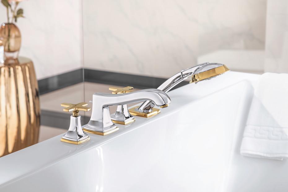 Metropol Classic 4-hole bath mixer cross
