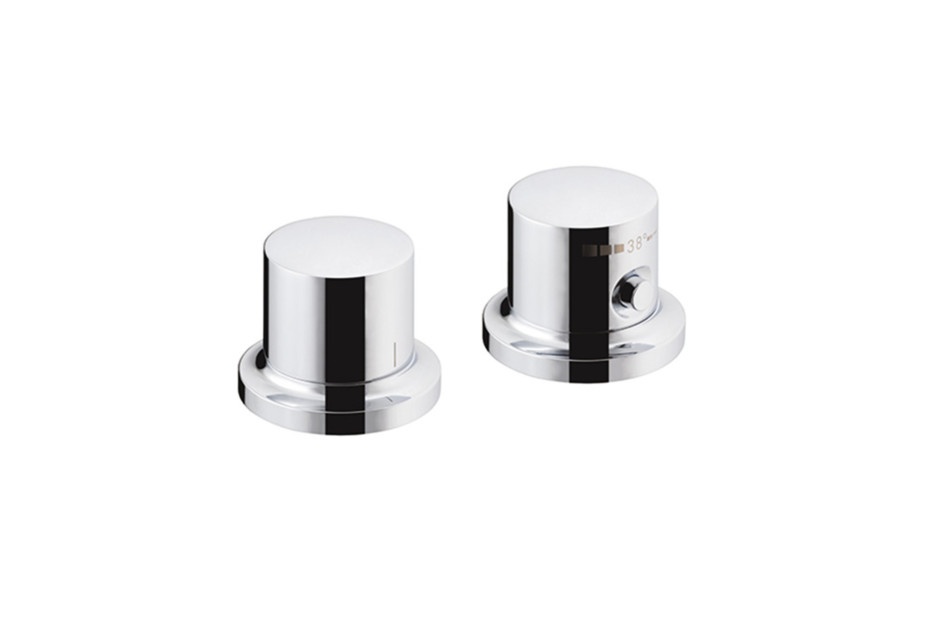 Axor Massaud 2-hole rim mounted thermostatic bath mixer
