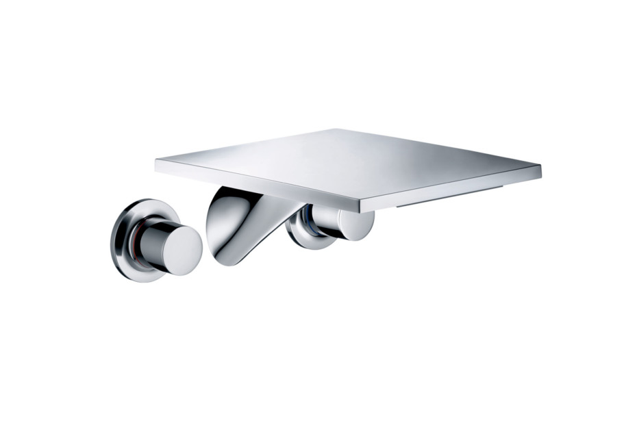 Axor Massaud 3-hole basin mixer for concealed installation with spout 262 mm wall-mounted