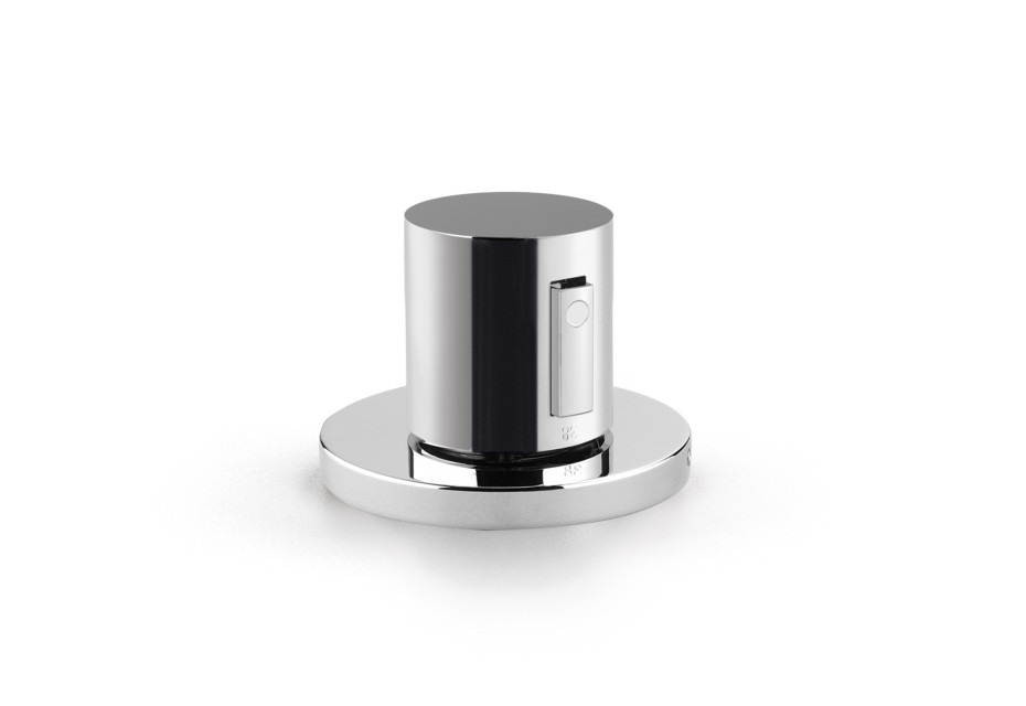 Rounded Generic bath thermostat for deck mounting