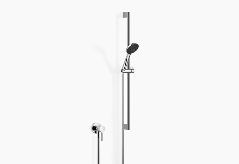 Concealed single-lever mixer with integrated shower connection with shower set
