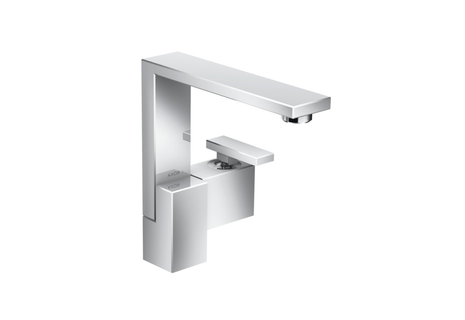 Axor Edge Single lever basin mixer 190 with push-open waste set