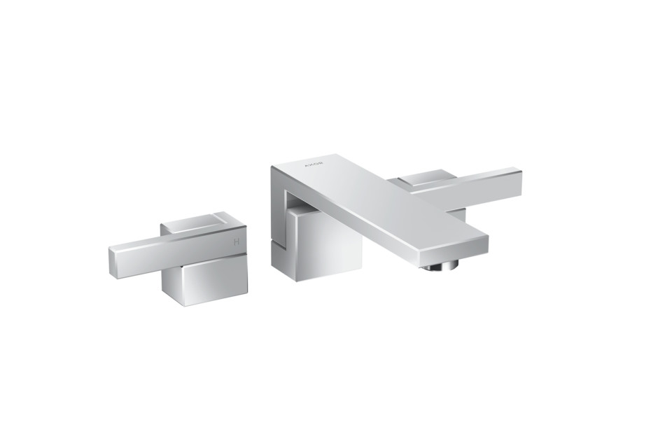 Axor Edge 3-hole basin mixer for concealed installation wall-mounted