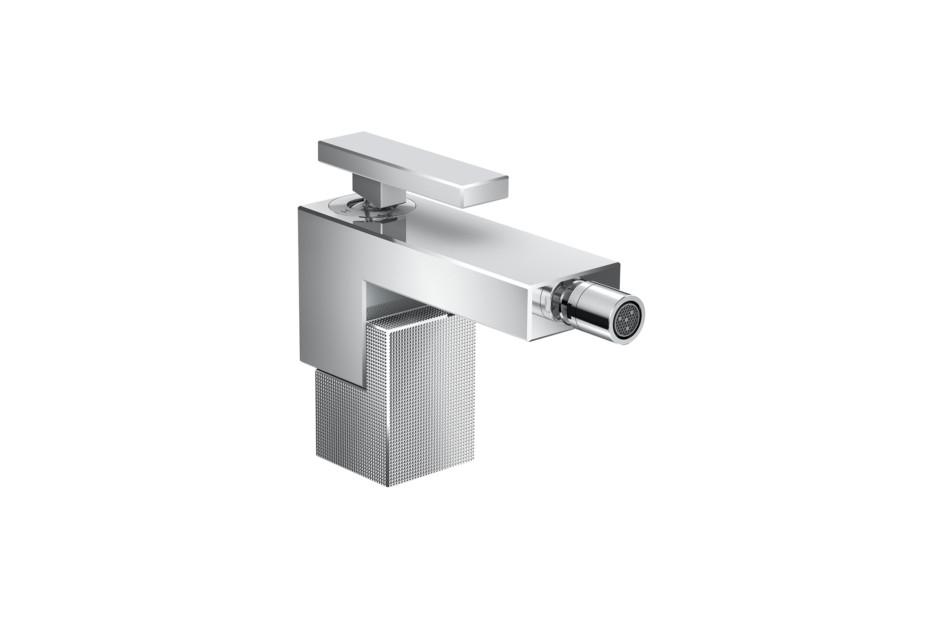 Axor Edge Einhebel-Bidetmischer mit Push-Open Ablaufgarnitur - Diamantschliff