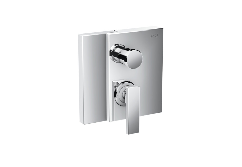 Axor Edge Single lever bath mixer for concealed installation with integrated security combination according to EN1717