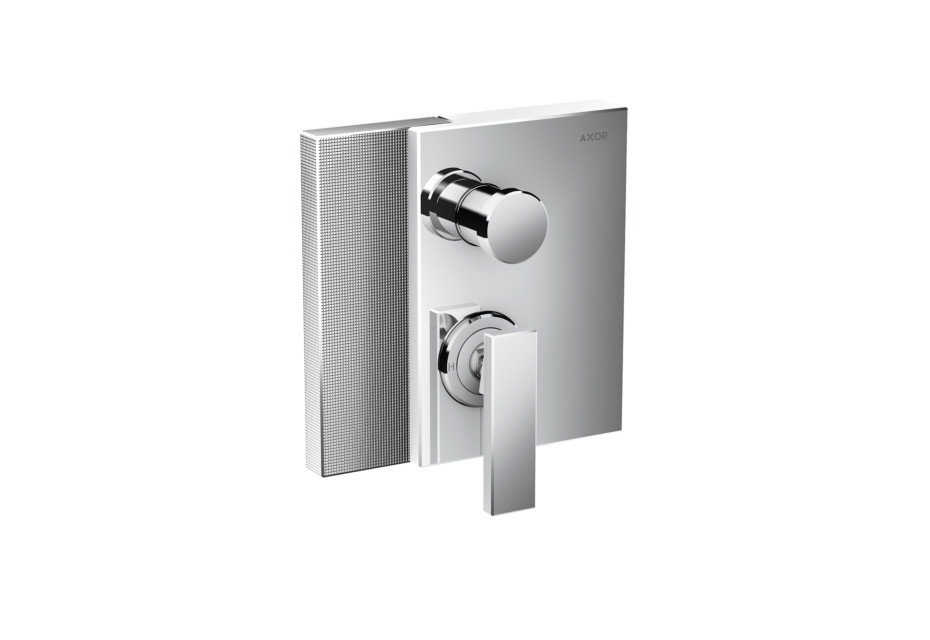 Axor Edge Single lever bath mixer for concealed installation - diamond cut
