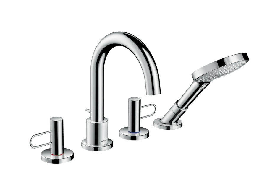Axor Uno 4-hole rim mounted bath mixer loop handle