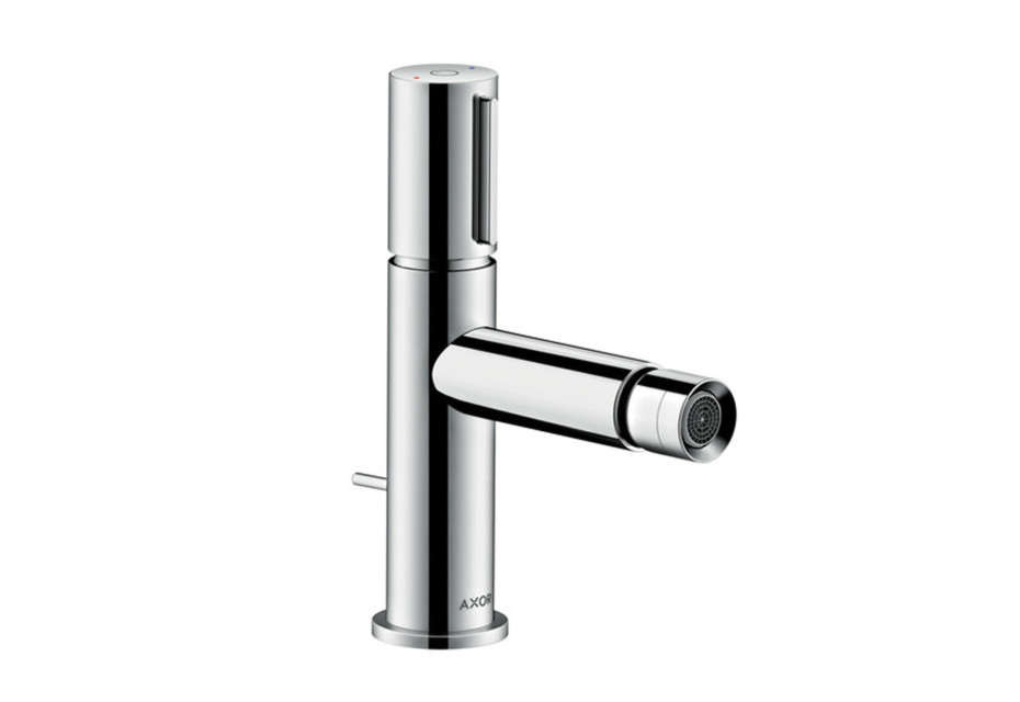 Axor Uno Select bidet mixer with pop-up waste set
