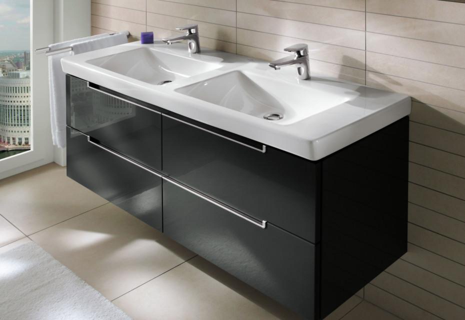 schrank doppelwaschtisch subway 2 0 von villeroy boch bad wellness stylepark. Black Bedroom Furniture Sets. Home Design Ideas