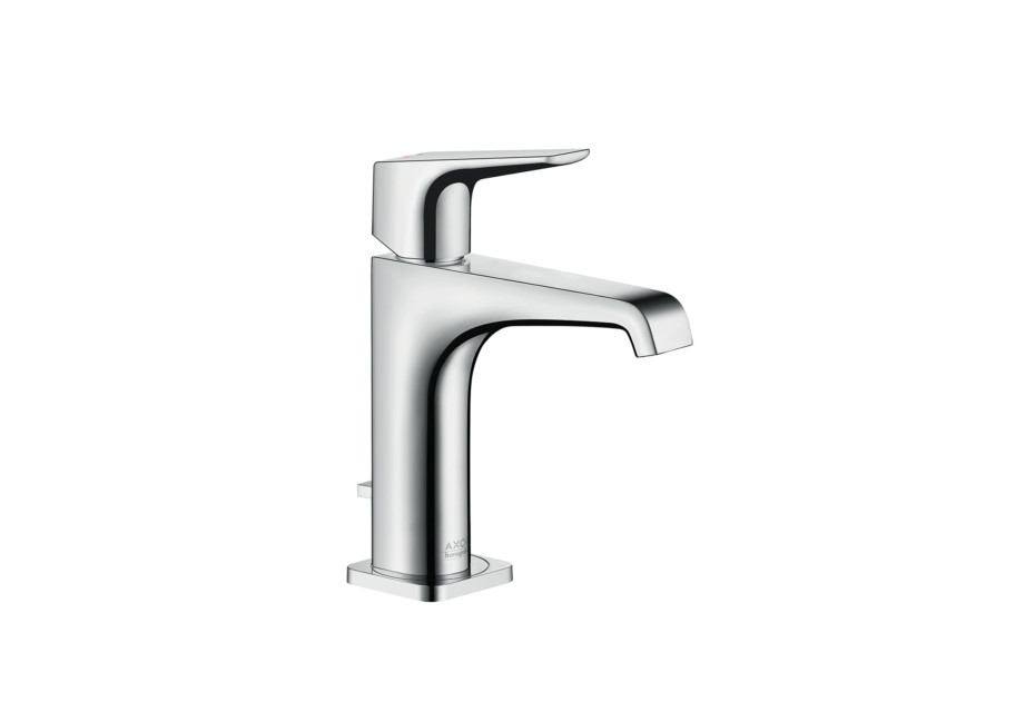 Axor Citterio E single lever basin mixer 125 with lever handle with pop-up waste set