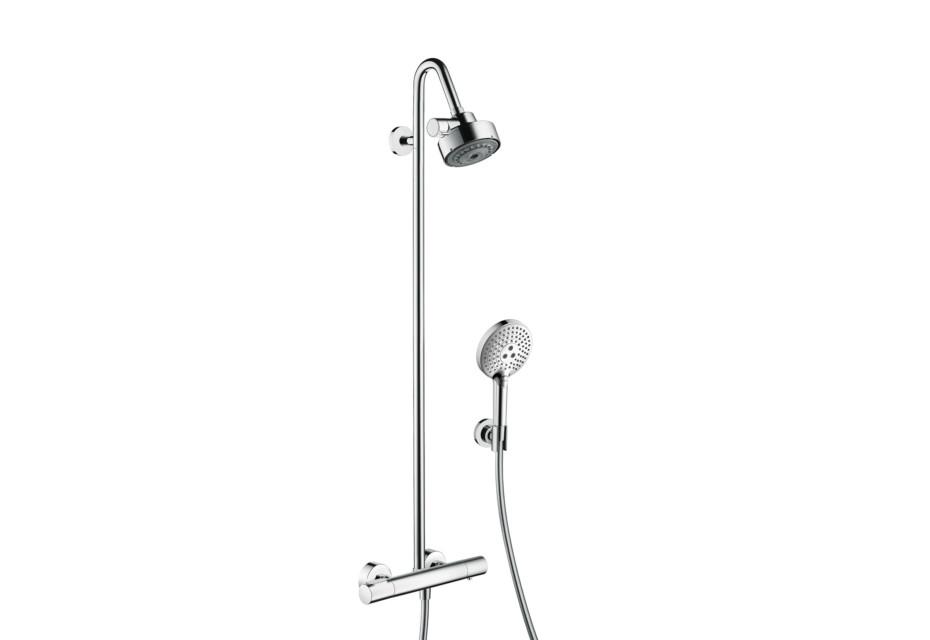 Axor Citterio M Showerpipe mit Thermostat und 3jet Kopfbrause