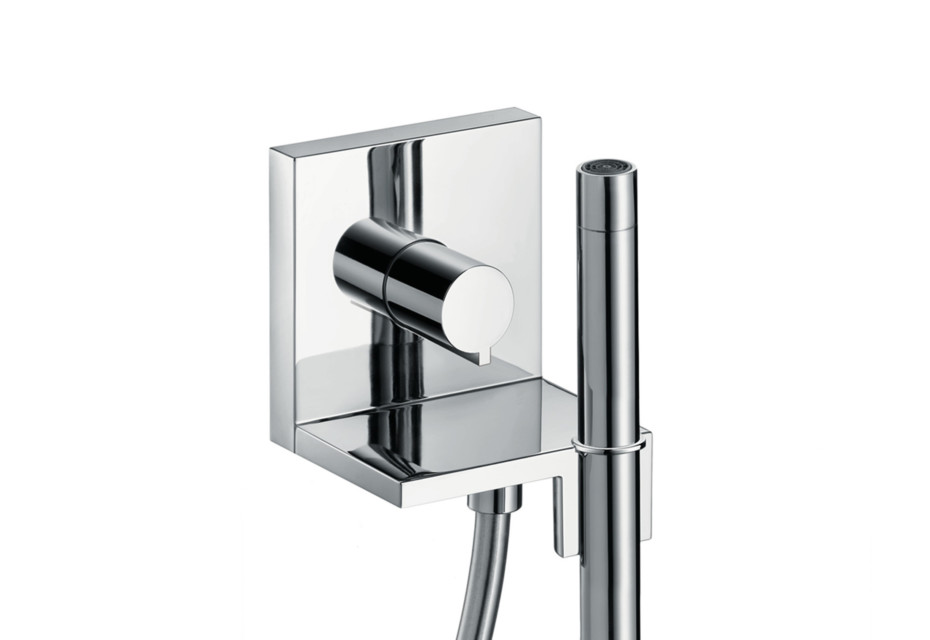Axor ShowerCollection Handbrausemodul 120/120 Square, mit Stabhandbrause 2jet, Unterputz
