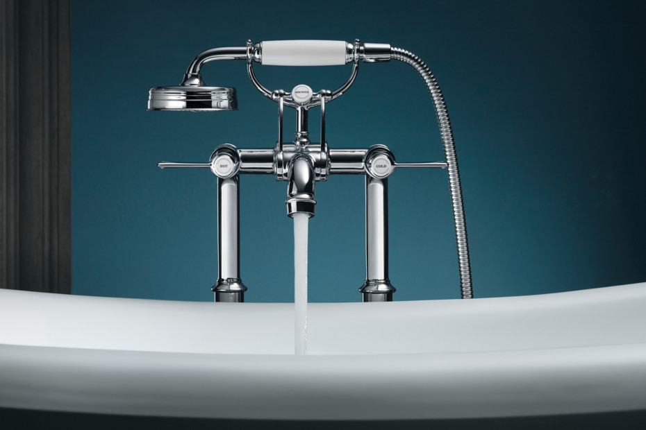 Axor Montreux 2-Handle Bath Mixer free-standing, with lever handles ...