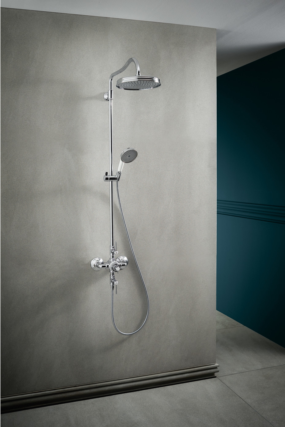 Axor Montreux Showerpipe with thermostat, with lever handles by Axor ...