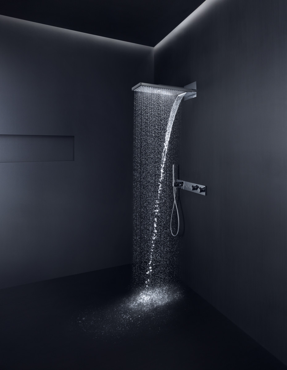 Axor overhead shower 250 / 580 3jet with shower arm by Axor | STYLEPARK