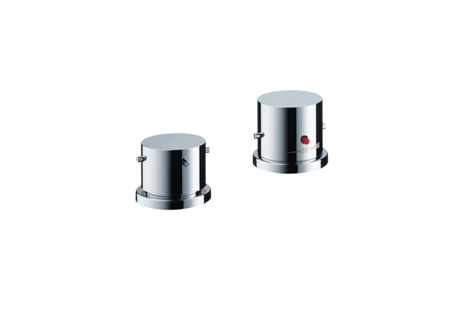 Axor Starck 2-hole rim mounted thermostatic bath mixer