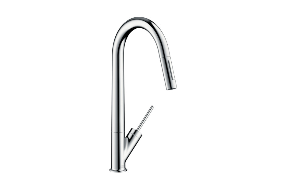 Axor Starck Single Lever Kitchen Mixer with pull-out spray DN15