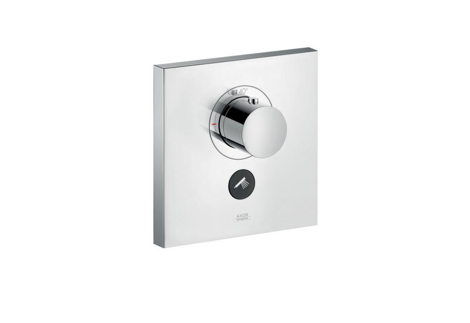 Axor Thermostat Highflow Square für 1 Verbraucher und einen zusätzlichen Abgang Unterputz