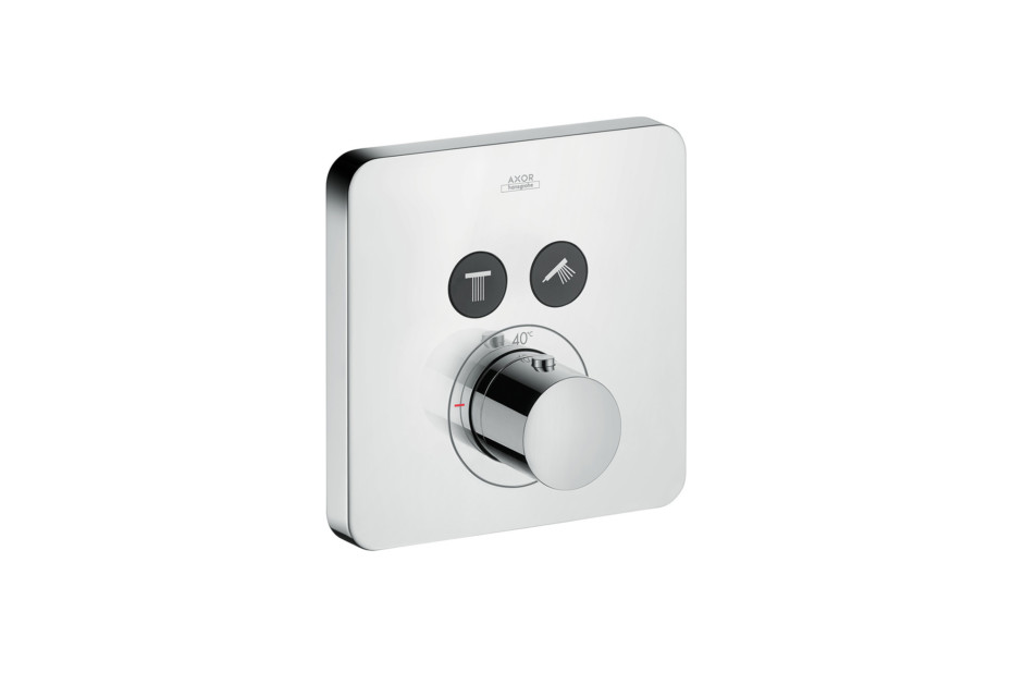 Axor thermostatic mixer Softcube for 2 outlets for concealed installation