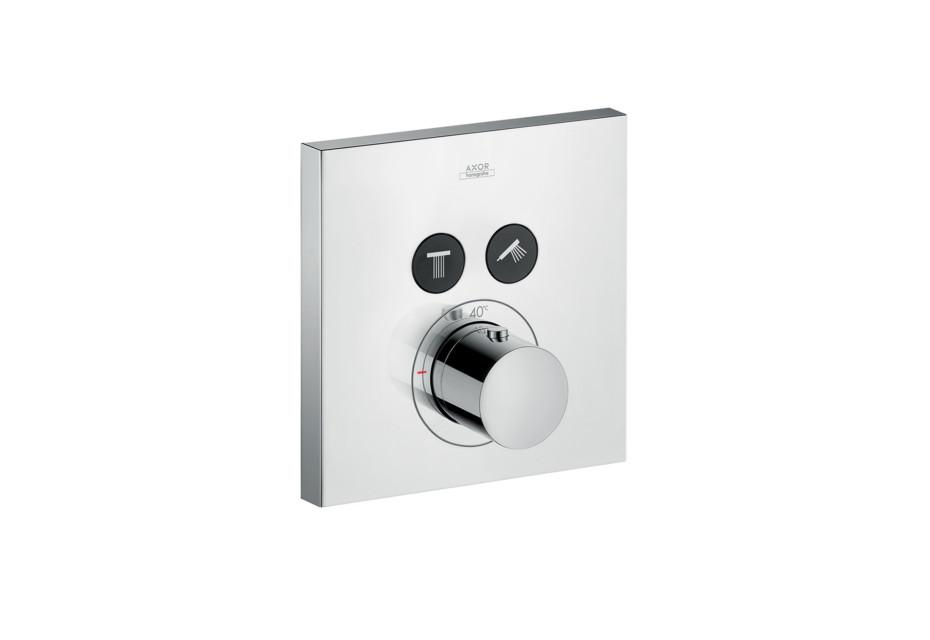 Axor Thermostat Square für 2 Verbraucher Unterputz