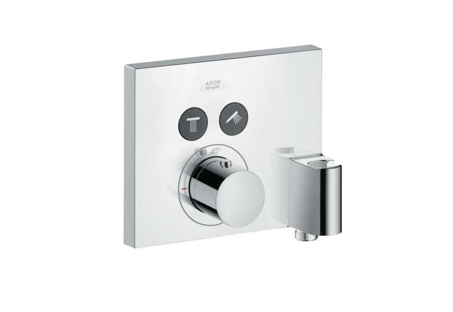 Axor Thermostat  Square für 2 Verbraucher mit FixFit und Porter Unterputz