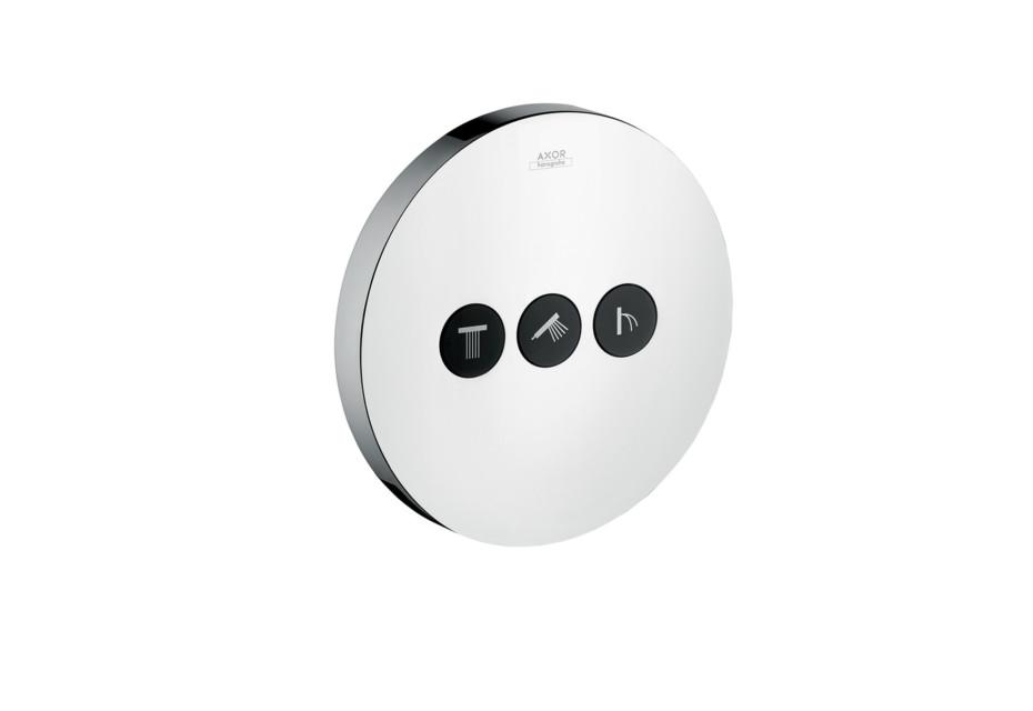 Axor Ventil Round, für 3 Verbraucher, Unterputz