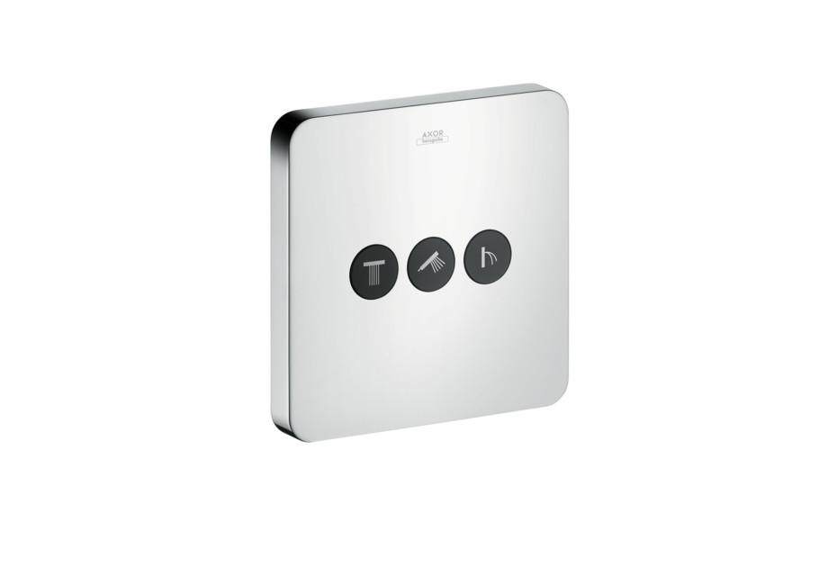 Axor Ventil Softcube für 3 Verbraucher Unterputz
