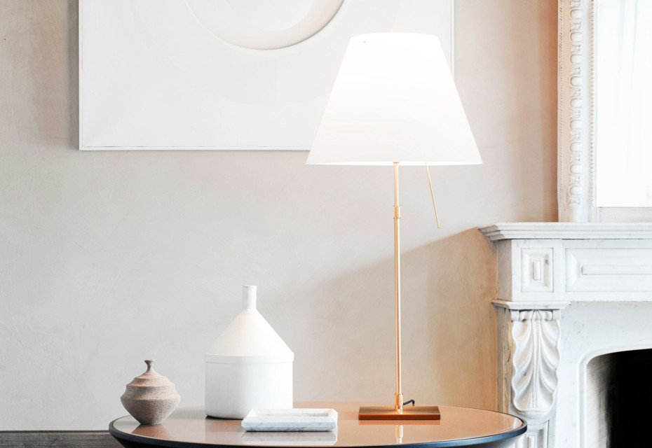 Costanza Brass table lamp