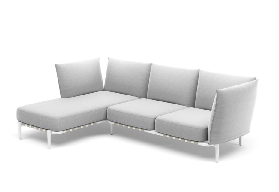 BREA 3er-Sofa, Daybed rechts