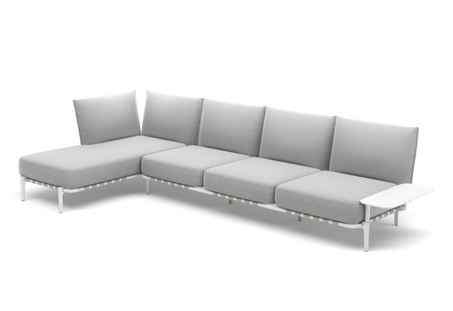 BREA 4er-Sofa, Daybed rechts