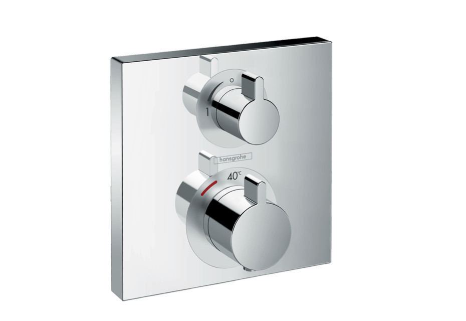Ecostat Square Thermostat for concealed installation for 1 function