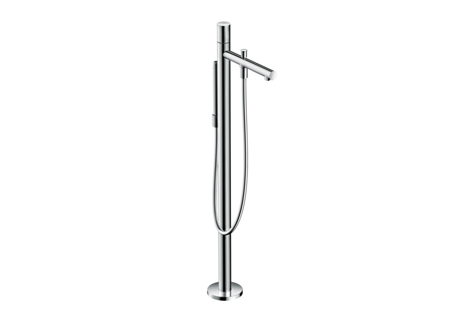 Axor Uno Floor standing single lever bath mixer, zero handle