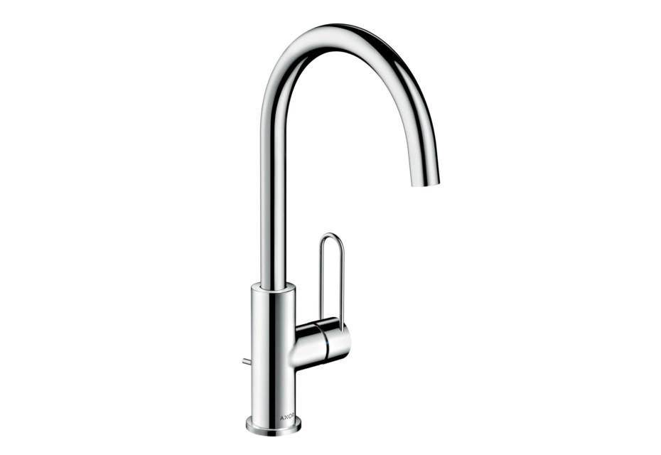 Axor Uno Single lever basin mixer 240, loop handle, with pop-up waste set