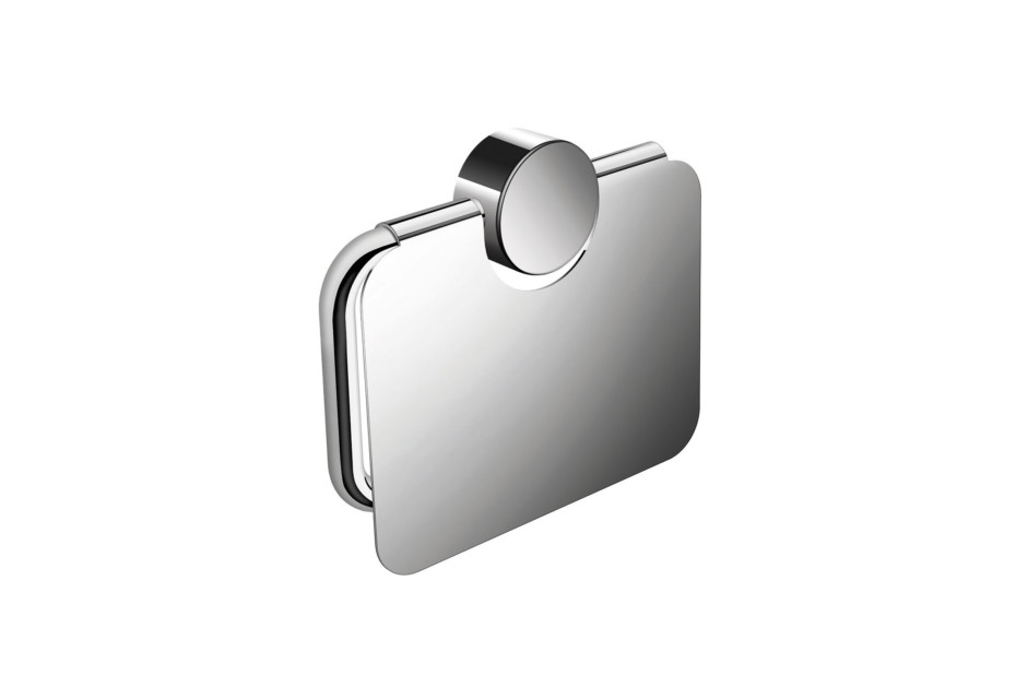 Toilet roll holder with cover finish - chrome