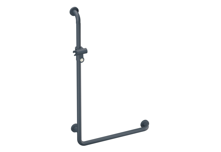 L-shaped support rail with shower head holder