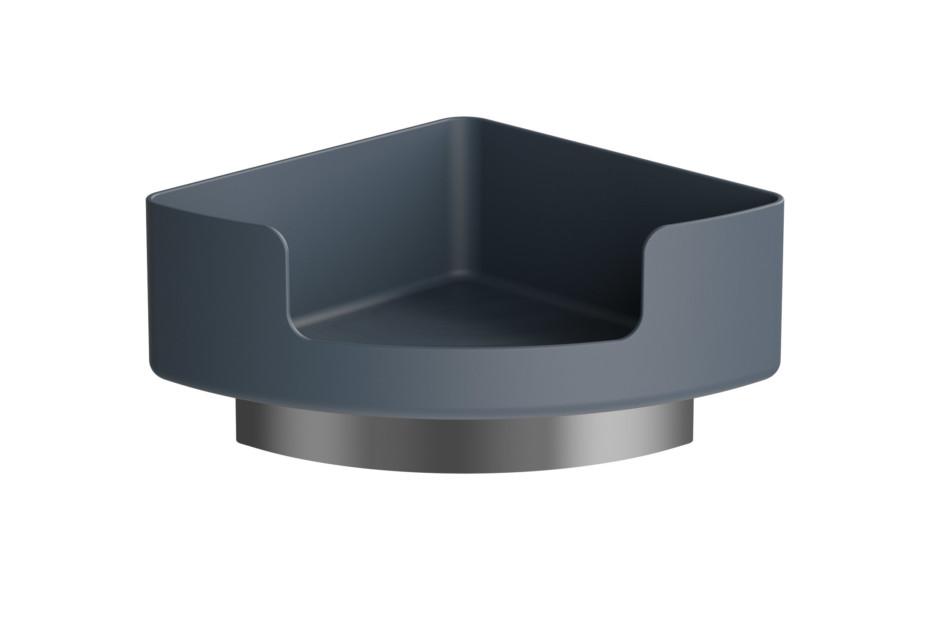Corner shelf with holder