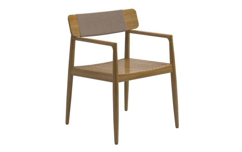Archi stuhl mit armlehnen von gloster furniture stylepark for Stuhl design entwicklung