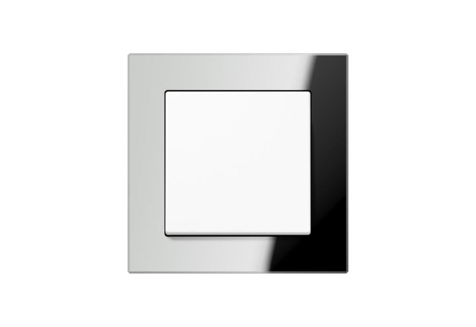 A Creation Glas Schalter in silber