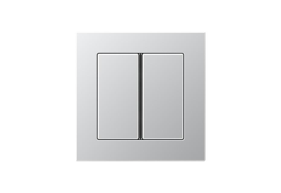 A Creation F40 Push-button sensor 2-gang in aluminium