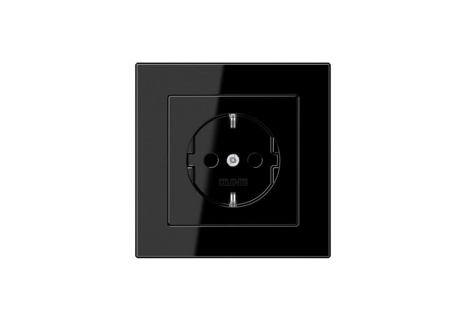 A Creation SCHUKO-Steckdose in schwarz von JUNG | STYLEPARK