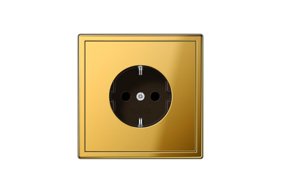 LS 990 SCHUKO-Steckdose in gold