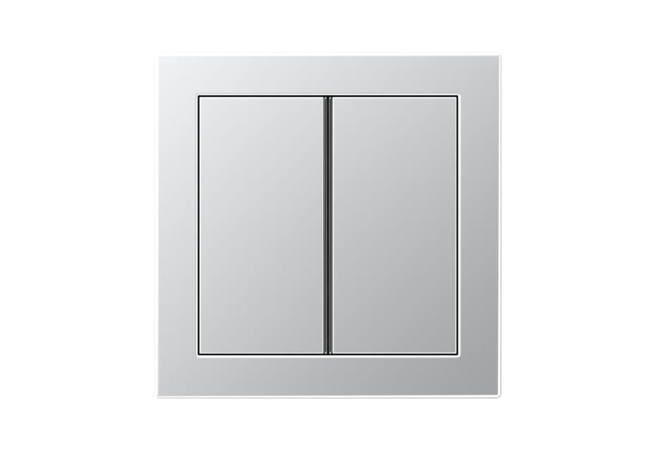 LS Design F40 Push-button sensor 2-gang in aluminium