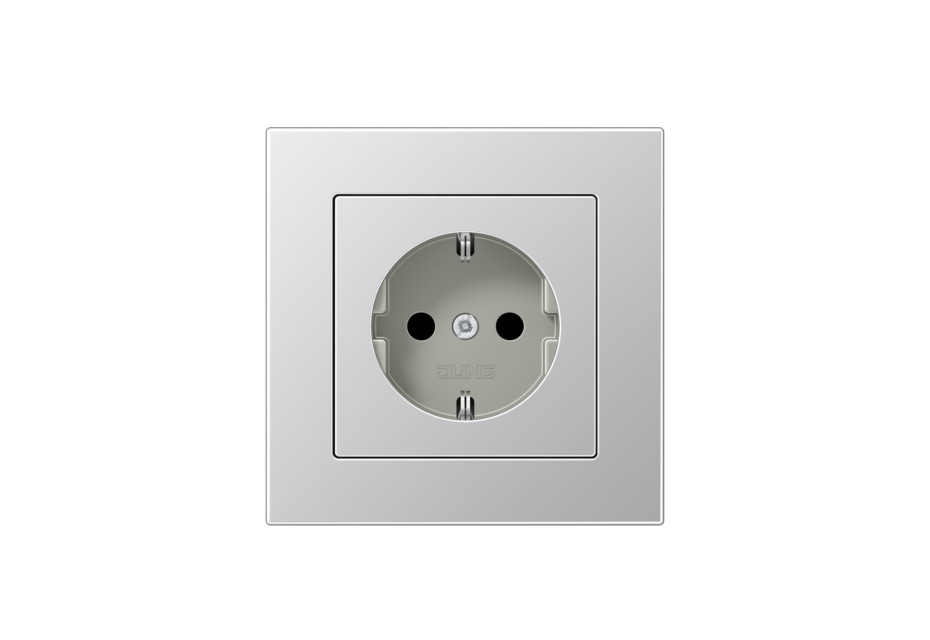 A 550 SCHUKO-Socket aluminium