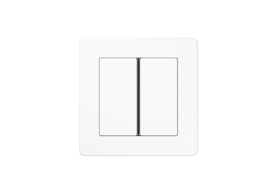 A Flow F40 Push-button sensor 2-gang white