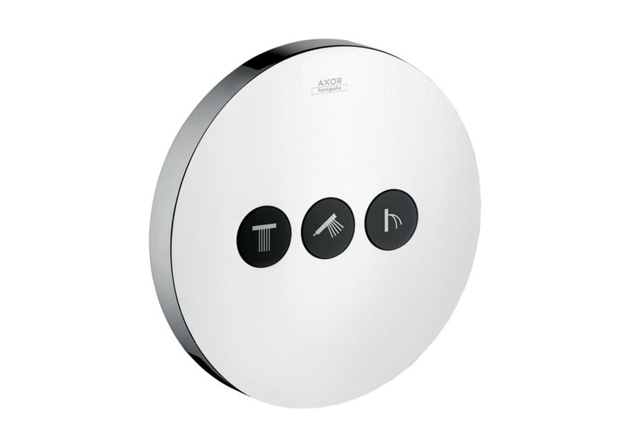 Axor ShowerSelect Ventil Round, für 3 Verbraucher, Unterputz