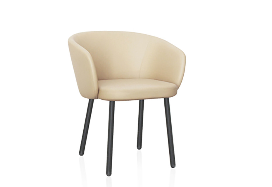 Huma Stuhl Upholstered dining armchair with metal legs T071 M