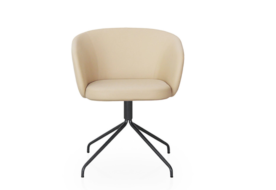 Huma Upholstered swivel armchair T071 S